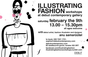 FEBRUARY illustrating fashion flyer smaller
